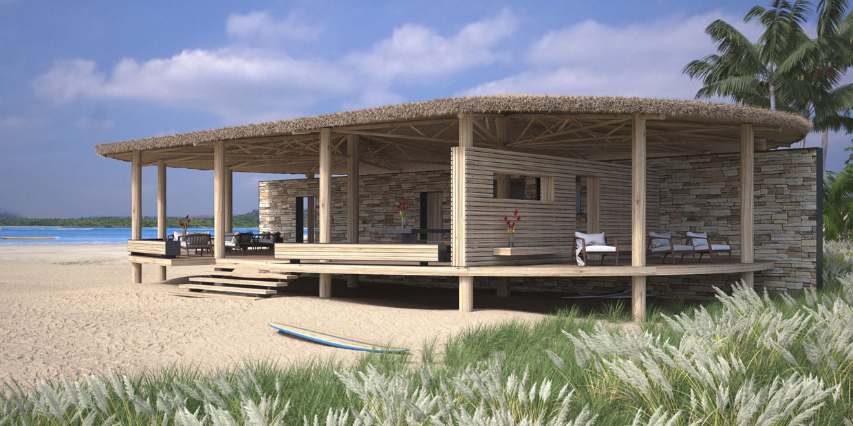 Artist impression Beach resort